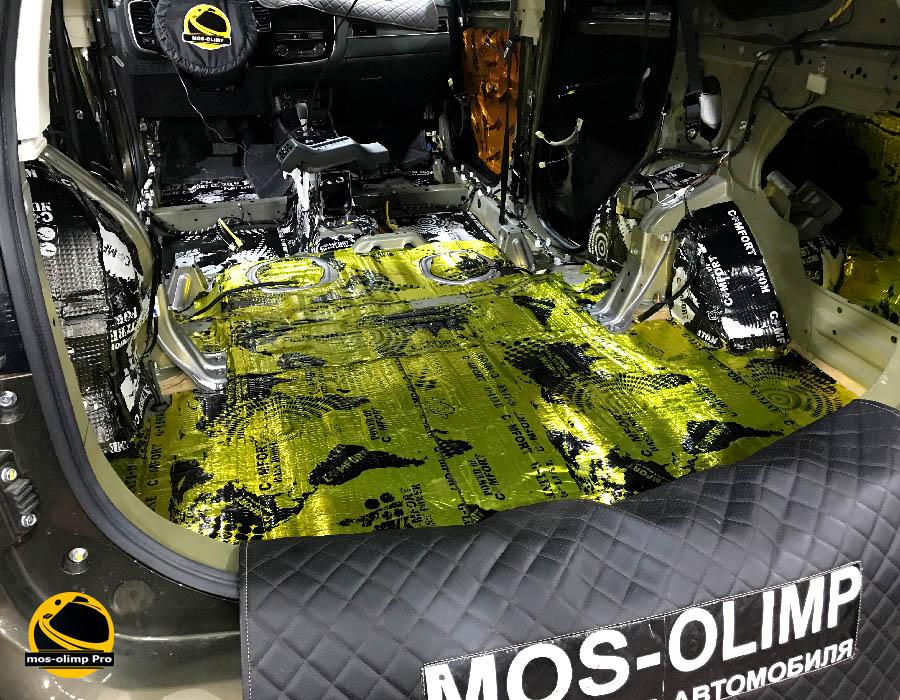 виброизоляция багажника мицубиси аутлендер