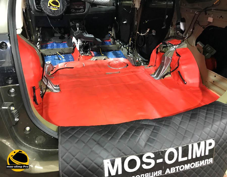 шумоизоляция багажника аутлендер