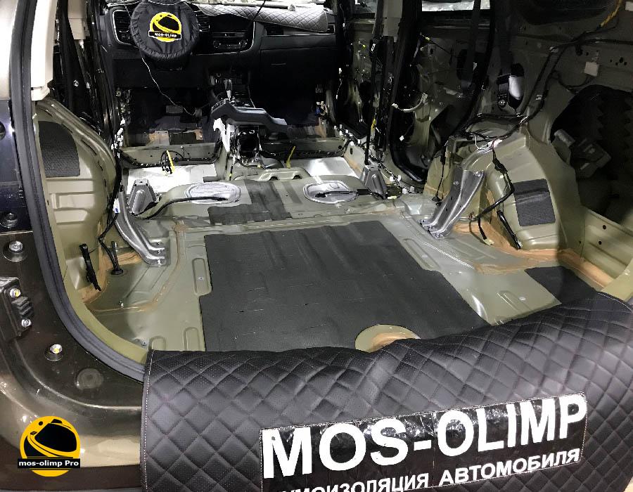 шумоизоляция багажника мицубиси аутлендер