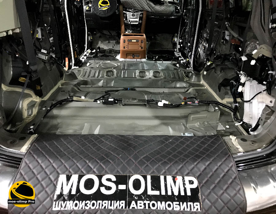 шумоизоляция багажника qx80