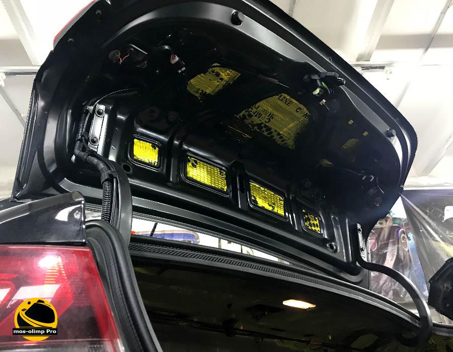 шумоизоляция крышки багажника солярис