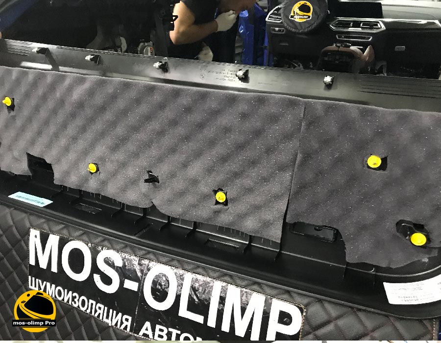 шумоизоляция крышки багажника bmw x6