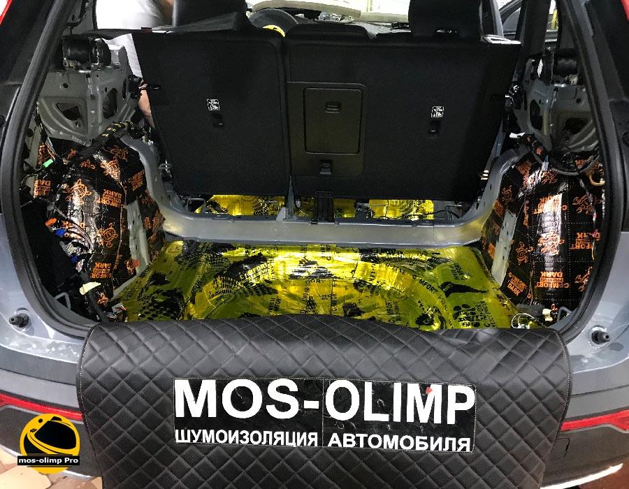 виброизоляция багажника вольво хс40