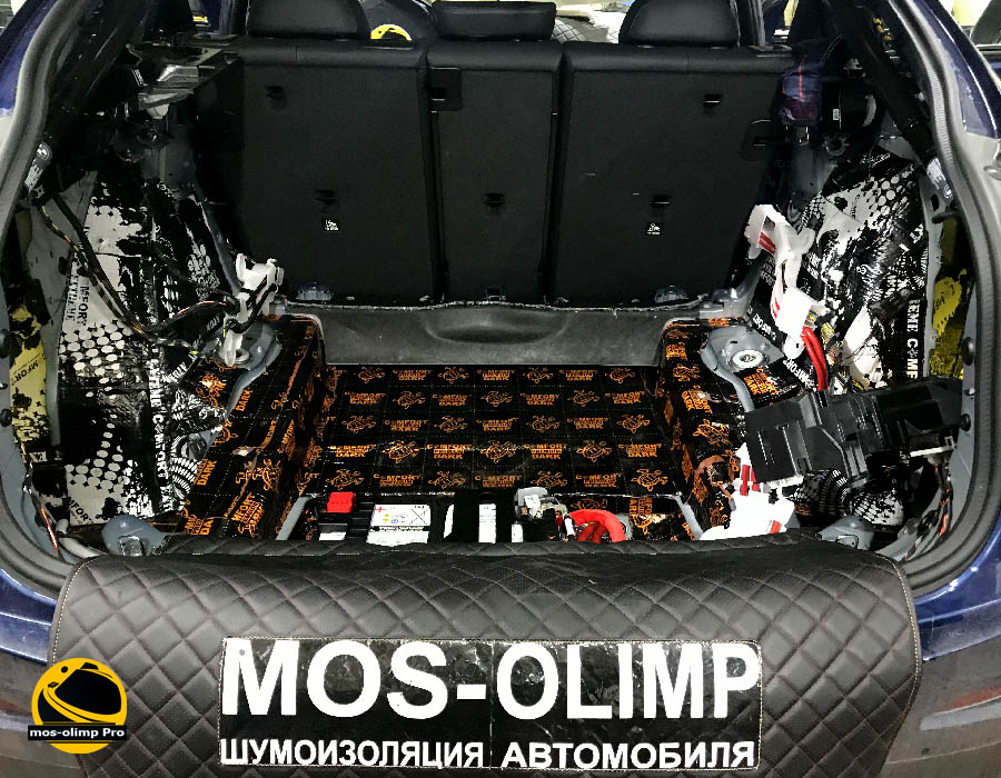 виброизоляция багажника bmw x4