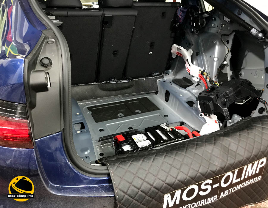 шумоизоляция багажника bmw x4