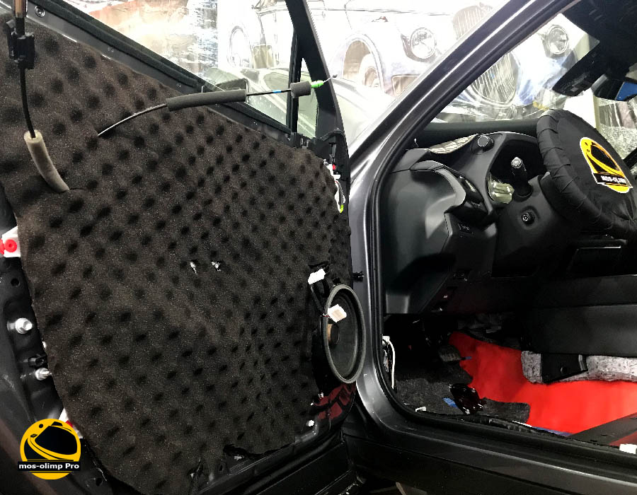 шумоизоляция дверей lexus 250