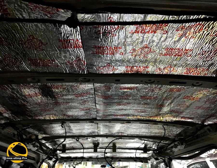 шумоизоляция крыши каравелла т6