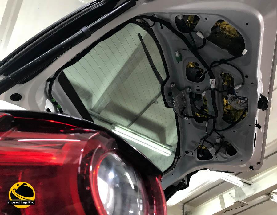 шумоизоляция крышки багажника мазда сх 5