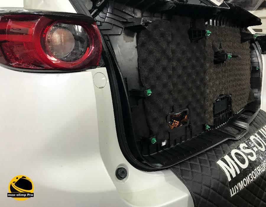 шумоизоляция крышки багажника мазда сх5