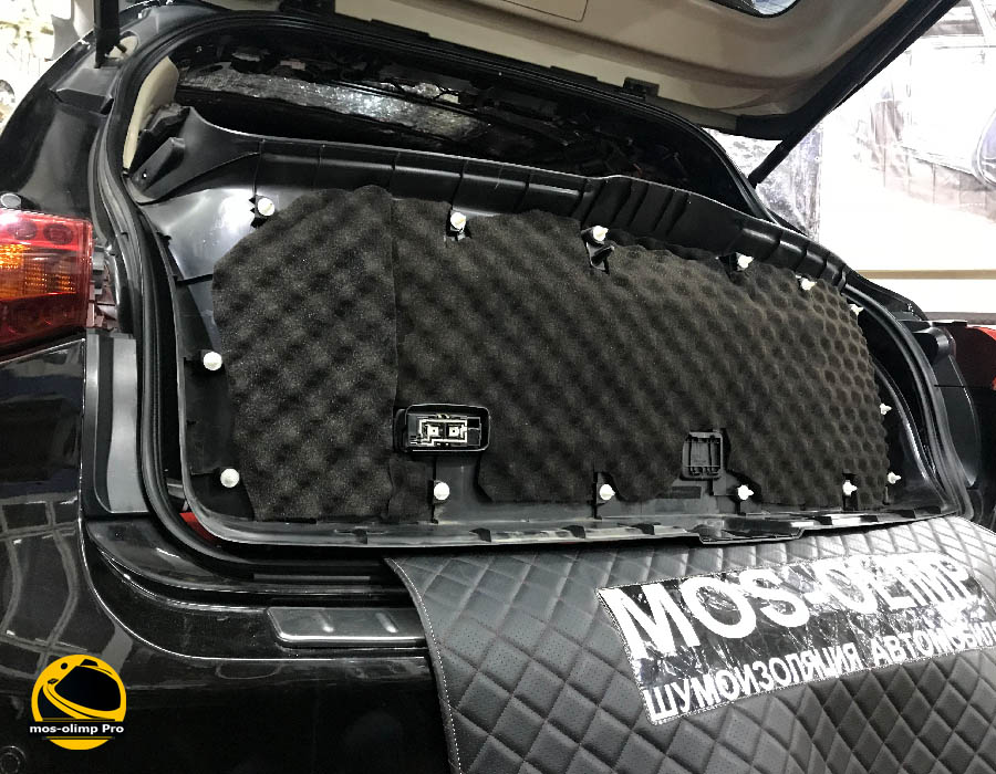 шумоизоляция крышки багажника инфинити fx