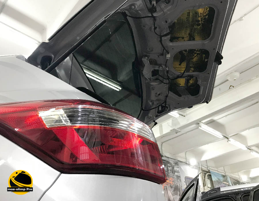 шумоизоляция крышки багажника крета