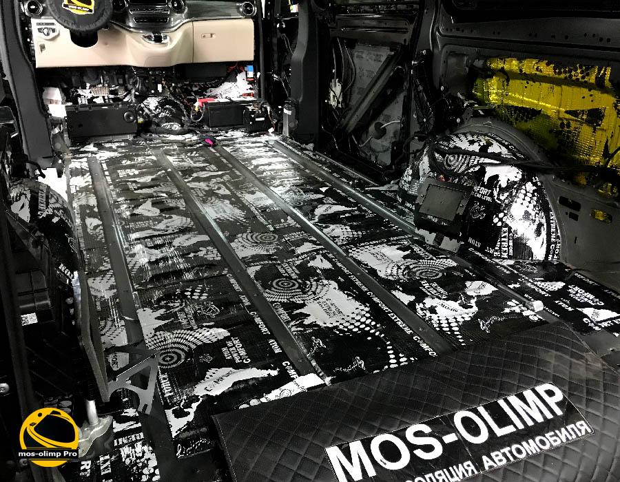 виброизоляция багажника мерседес V-class