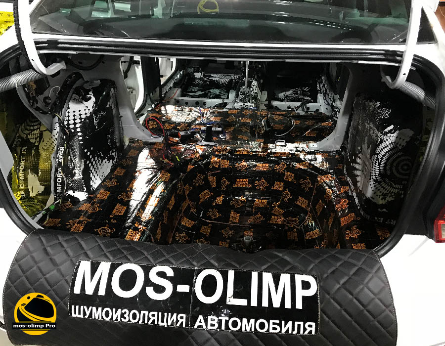 шумоизоляция багажника поло