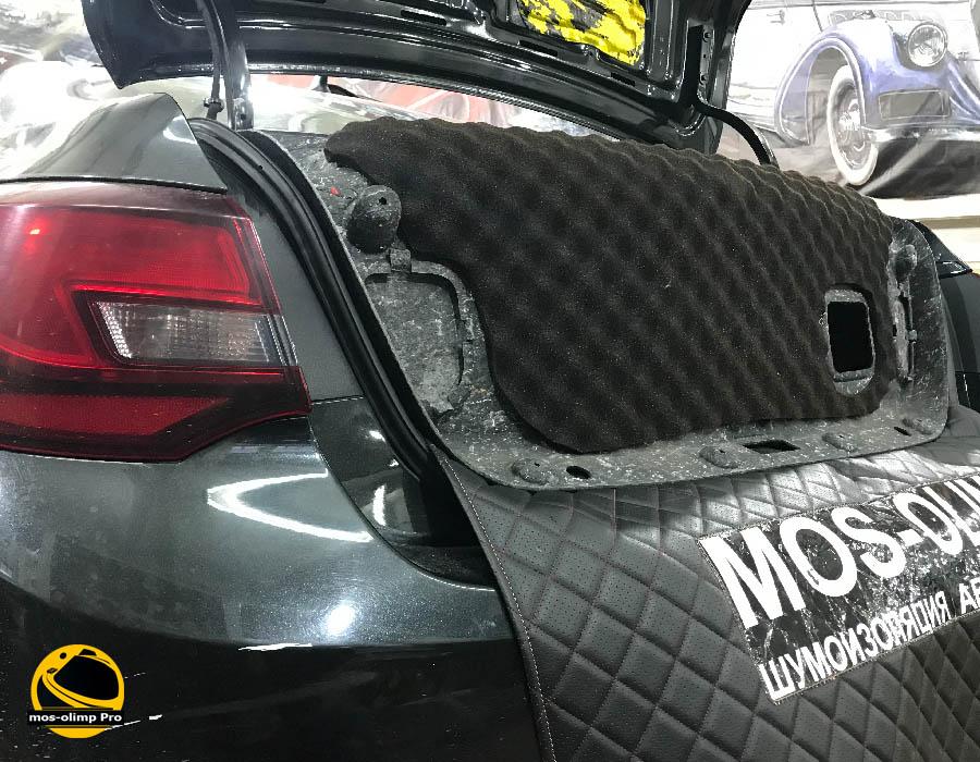 шумоизоляция крышки багажника астра j
