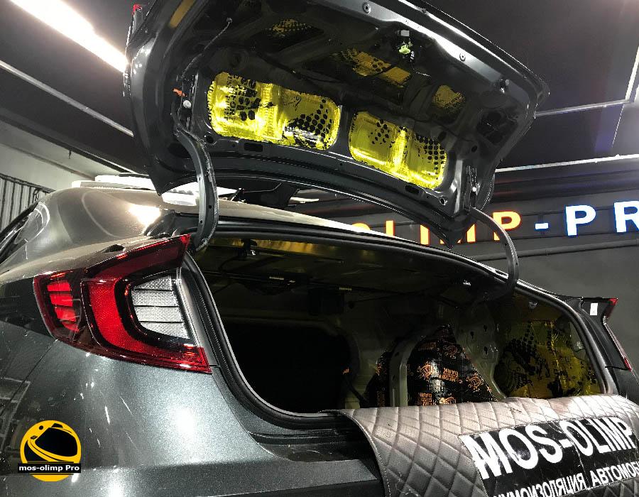 шумоизоляция крышки багажника соната