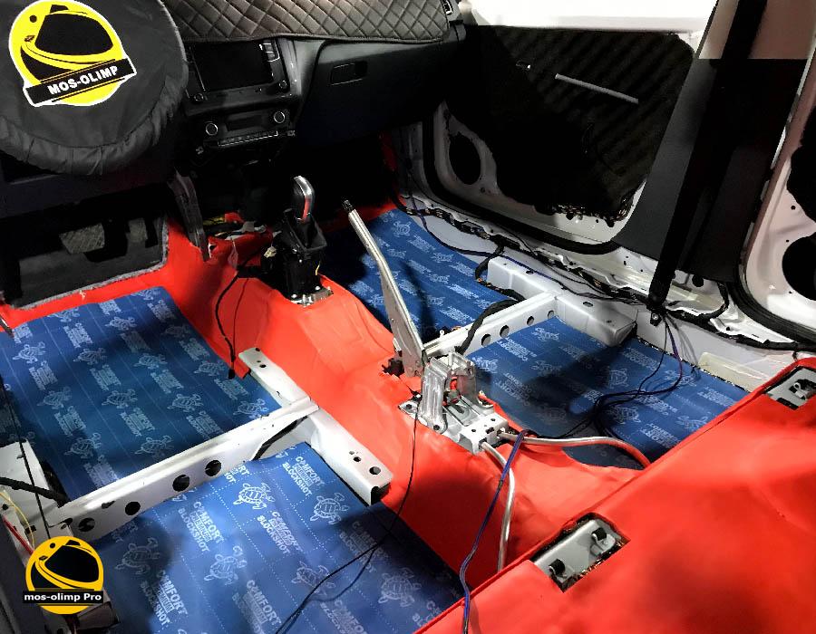 шумоизоляция фольксваген поло седан