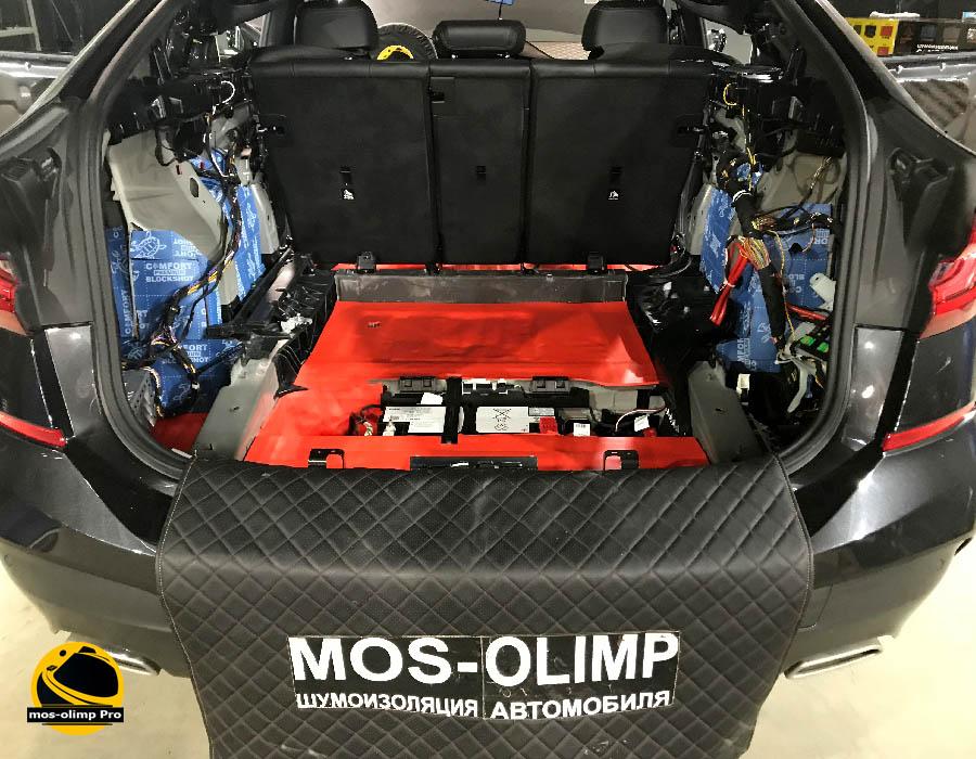 шумоизоляция багажника bmw 630