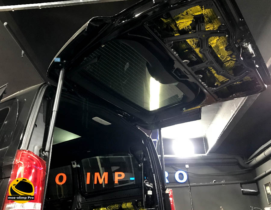 шумоизоляция крышки багажника мерседес виано