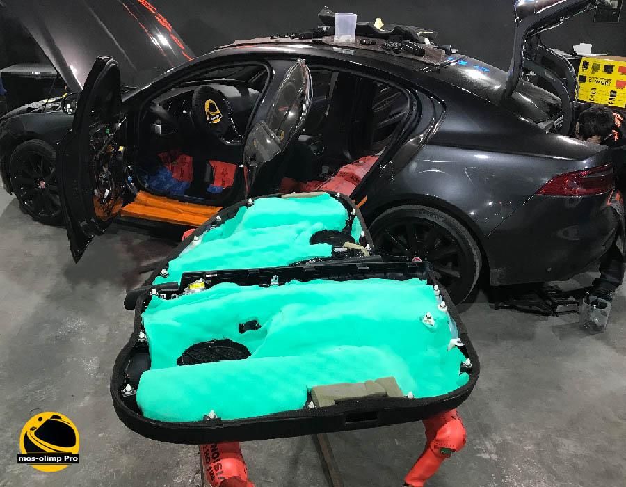 шумоизоляция дверей jaguar xe